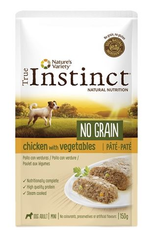 True instinct pouch no grain mini adult chicken pate