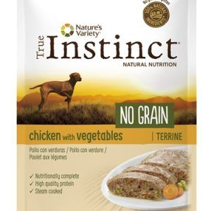 True instinct pouch no grain medium adult chicken terrine
