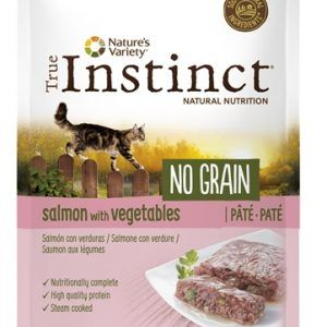 True instinct pouch no grain adult salmon pate