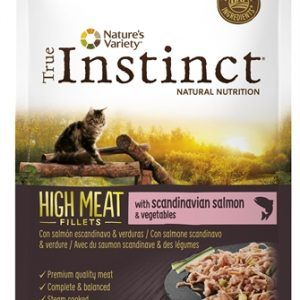 True instinct pouch high meat adult salmon fillets