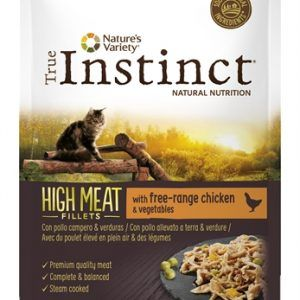 True instinct pouch high meat adult chicken fillets