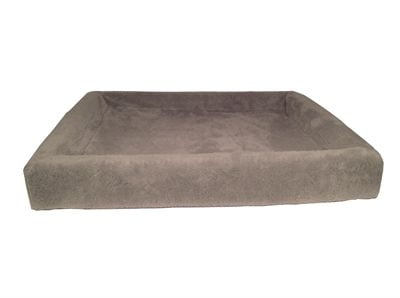 Bia bed fleece overtrek hondenmand taupe