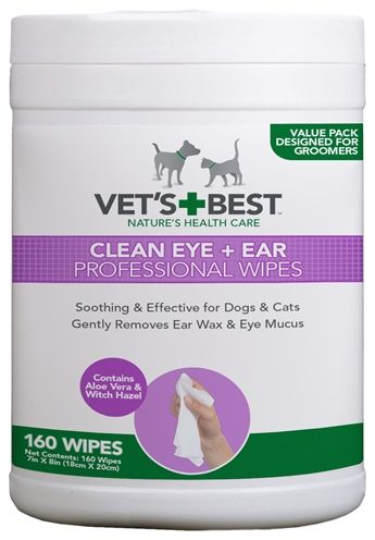Vets best clean ear / eye wipes hond