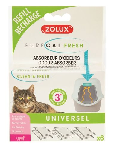 Zolux clean & fresh universeel filter kattenbak