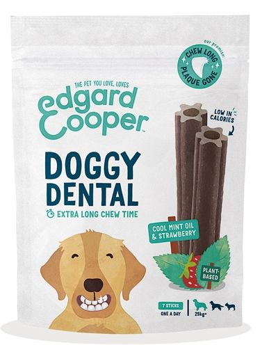 Edgard & cooper dental sticks aardbei / mint
