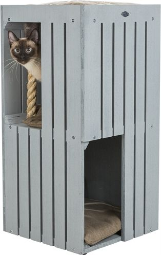 Trixie be nordic cat tower juna grijs (38X38X77 CM)