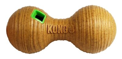 Kong bamboo feeder dumbbel voerbal (20,5X8,5X8,5 CM)