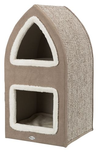Trixie krabpaal cat tower marcy bruin / creme (38X38X75 CM)