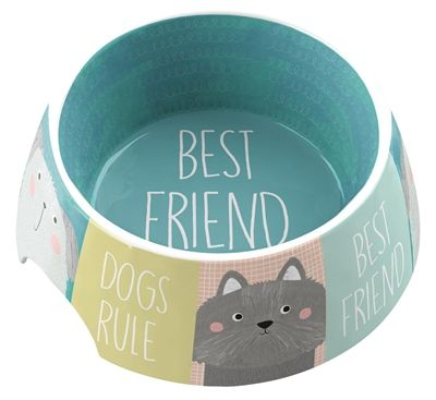 Tarhong voerbak best friends forever melamine multi (18X18X7 CM 590 ML)