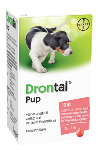 Bayer drontal ontworming pup (50 ML)